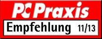 Award testurteil pcpraxis 11 2013 timecardshop
